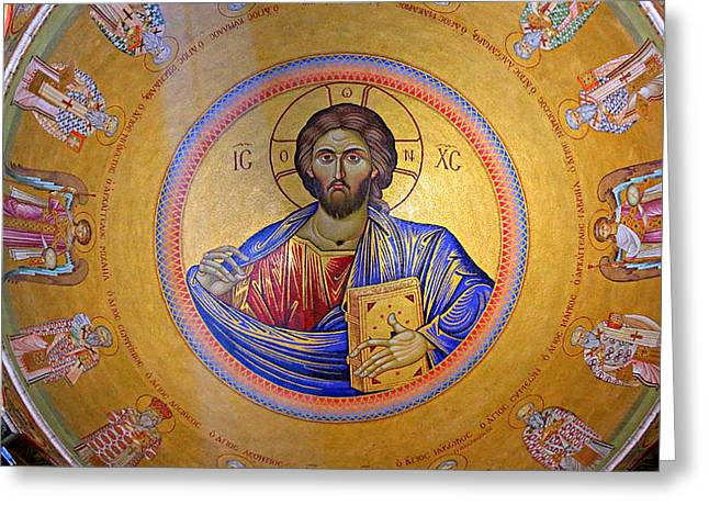 Patriarch Greeting Cards - Christ Pantocrator -- No.4 Greeting Card by Stephen Stookey