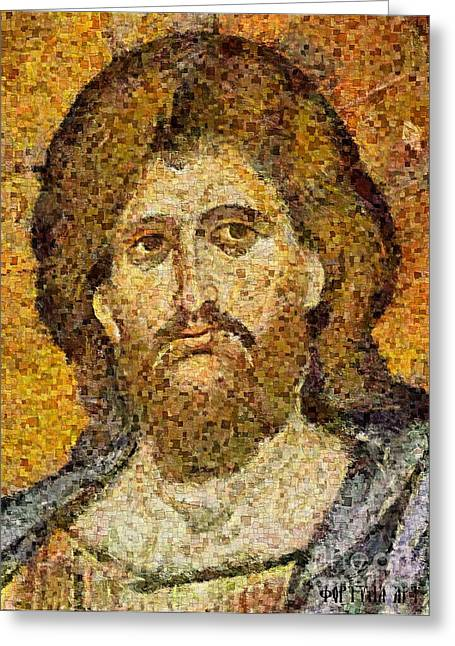 Christ Pantocrator From Monreale Greeting Card by Dragica  Micki Fortuna