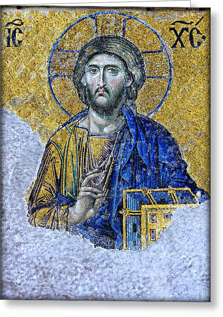 Patriarch Greeting Cards - Christ Pantocrator II Greeting Card by Stephen Stookey