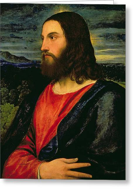 Gospel Greeting Cards - Christ the Redeemer Greeting Card by Titian