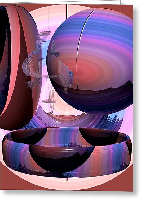 Modern Digital Art Digital Art Greeting Cards - Christalline Energies Greeting Card by Georgeta  Blanaru
