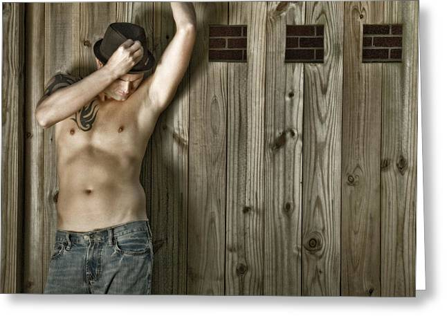Male Torso Greeting Cards - Christian 15 Greeting Card by Dave Milstead