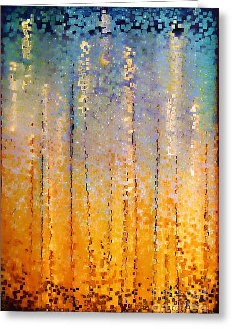 Christian Abstract Art Greeting Cards - Christian Art- Everyone Who Calls. Romans 10 13 Greeting Card by Mark Lawrence