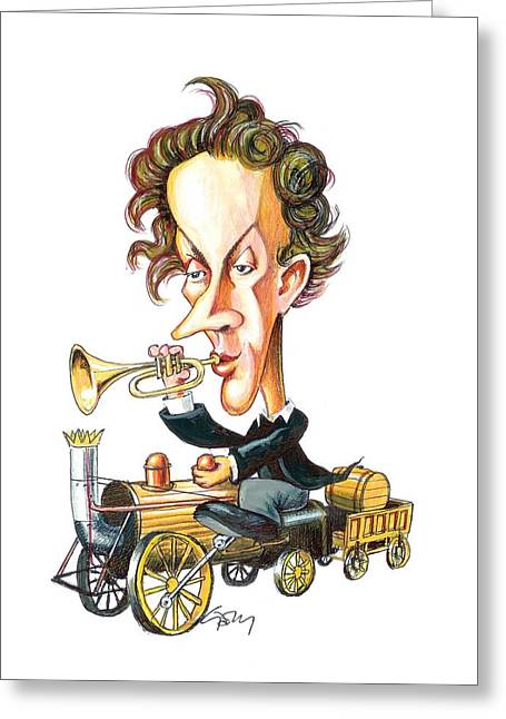 Christian Doppler, Caricature Greeting Card by Science Photo Library