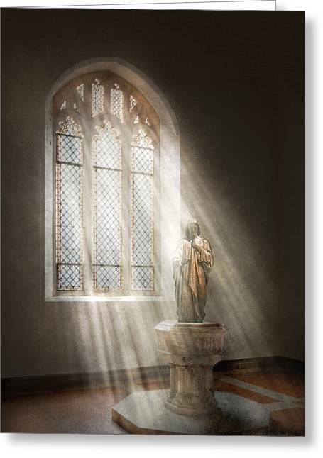 Believers Greeting Cards - Christian - Heavenly Father Greeting Card by Mike Savad