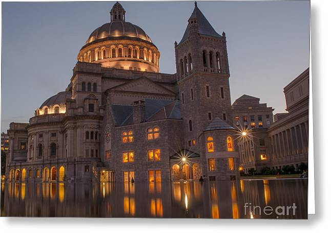 Boston Ma Greeting Cards - Christian Science Center 2 Greeting Card by Mike Ste Marie