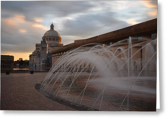 Oxford. Oxford Ma. Massachusetts Greeting Cards - Christian Science Church Boston Greeting Card by Toby McGuire