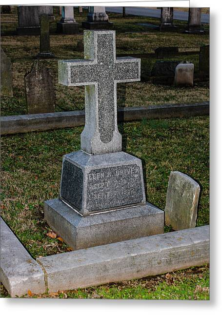 Final Resting Place Greeting Cards - Christian Tombstone Greeting Card by Robert Hebert