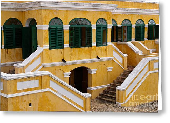 Fineartprint Greeting Cards - Christiansted National Historic Fort Greeting Card by Iris Richardson