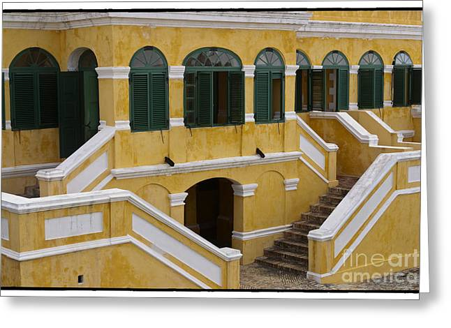 National Commercial Greeting Cards - Christiansted National Historic Fort with border Greeting Card by Iris Richardson