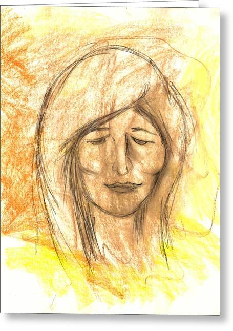 Sorrow Pastels Greeting Cards - Christina Greeting Card by Roger Hanson