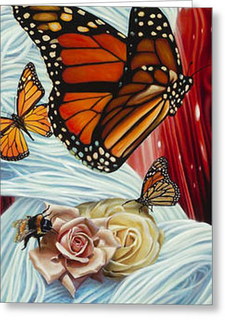 Figurative Mixed Media Greeting Cards - Christina the Astonishing Greeting Card by Vic Lee