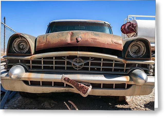 Truck Grill. Fence Greeting Cards - Christine Color Greeting Card by Scott Campbell