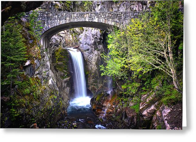 Christine Greeting Cards - Christine Falls - Mt. Rainier National Park Greeting Card by Kevin Pate