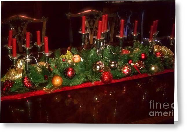 Cobalt Blue Greeting Cards - Christmas 16 Greeting Card by Michael Anthony