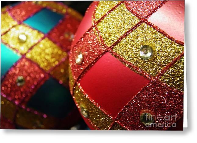 Christmas Abstract Greeting Cards - Christmas Abstract 18 Greeting Card by Sarah Loft