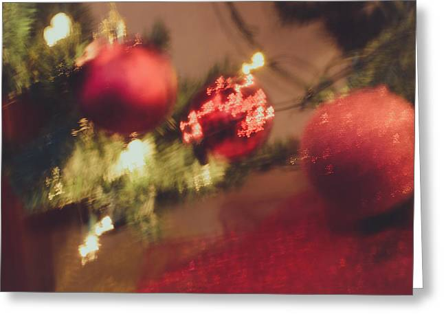 Christmas Eve Greeting Cards - Christmas Abstract VIII Greeting Card by Marco Oliveira