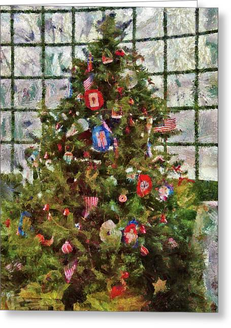 American Tradition Greeting Cards - Christmas - An American Christmas Greeting Card by Mike Savad
