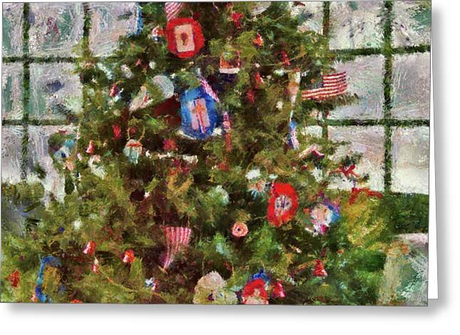 Christmas - An American Christmas Greeting Card by Mike Savad