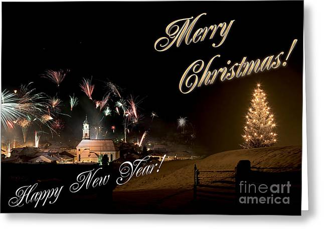 Christmas Eve Greeting Cards - Christmas and new year eve Greeting Card by Fabian Roessler