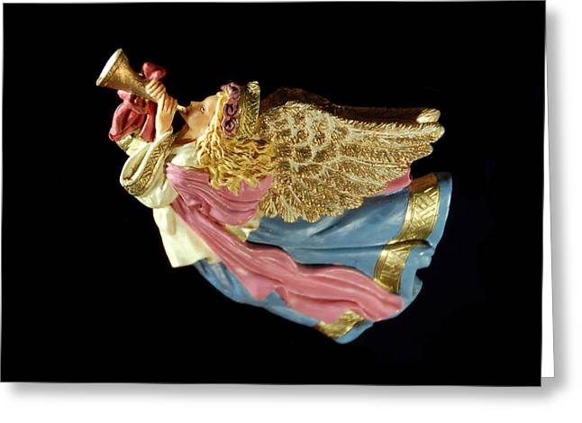 Christmas Angel Greeting Card by Aimee L Maher Photography and Art