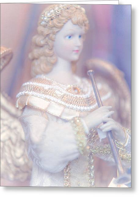 Vinatge Greeting Cards - Christmas  Angel Greeting Card by Jenny Rainbow