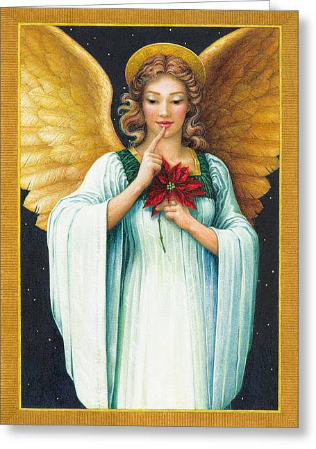 Christmas Angel Greeting Cards - Christmas Angel Greeting Card by Lynn Bywaters