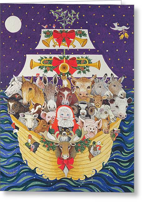 Christmas Arrival  Greeting Card by Pat Scott