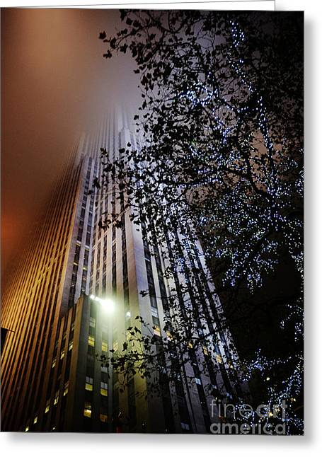 New York Newyork Digital Greeting Cards - Christmas at Rock Center NYC Greeting Card by Anahi DeCanio