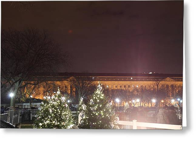 Christmas At The Ellipse - Washington Dc - 01134 Greeting Card by DC Photographer