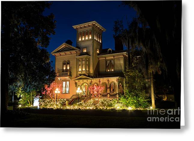 Beach At Night Greeting Cards - Christmas at The Fairbanks House Amelia Island Florida Greeting Card by Dawna  Moore Photography
