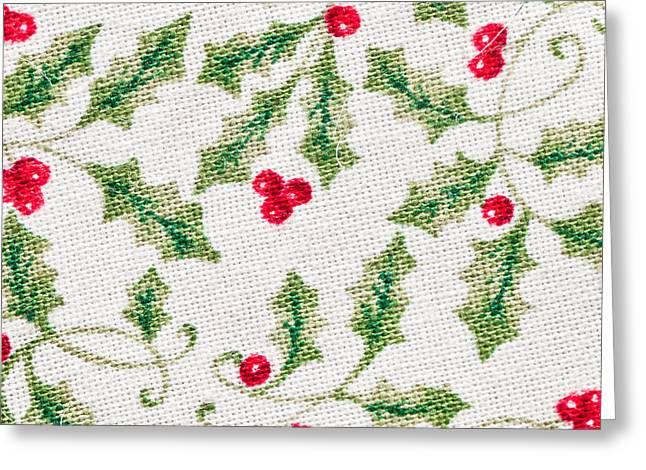 Cloth Greeting Cards - Christmas background Greeting Card by Tom Gowanlock