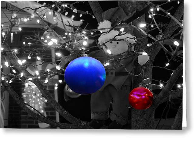 Steven Michael Photography And Art Greeting Cards - Christmas Balls Greeting Card by Steven  Michael