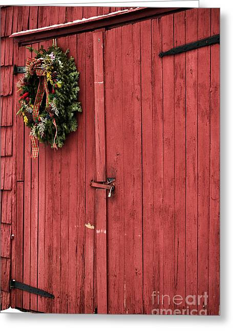 Christmas Posters Photographs Greeting Cards - Christmas Barn Greeting Card by John Rizzuto