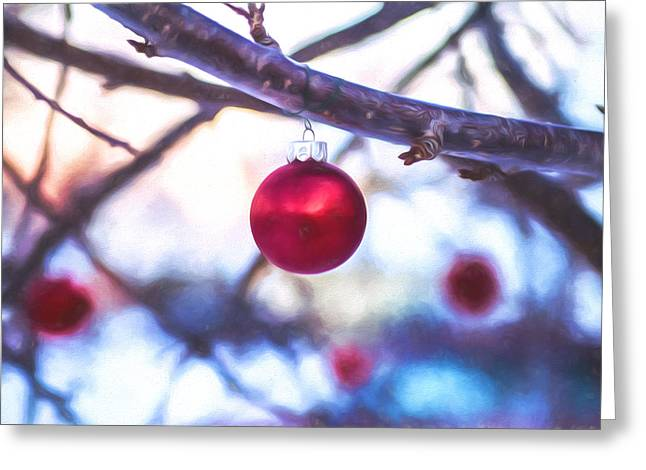 Adornment Greeting Cards - Christmas Bauble Greeting Card by Chris Bordeleau
