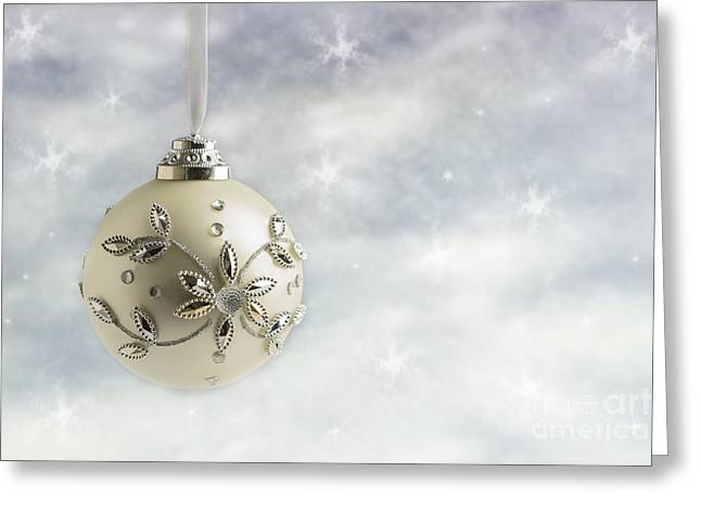 Christmas Bauble Greeting Card by Amanda And Christopher Elwell