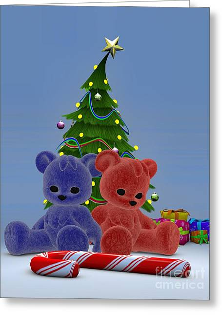 Daughter Gift Greeting Cards - Christmas Bears 2 Greeting Card by Alexander Butler