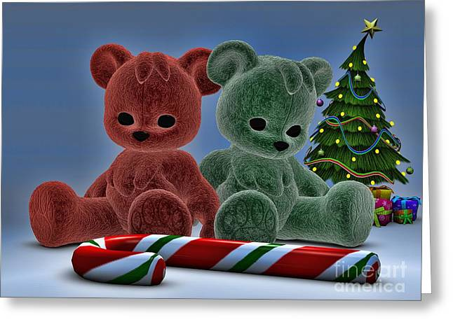 Daughter Gift Greeting Cards - Christmas Bears Greeting Card by Alexander Butler