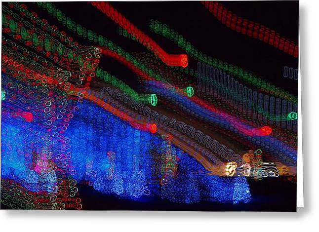 Christmas Abstract Greeting Cards - Christmas Blur Greeting Card by Dan Sproul