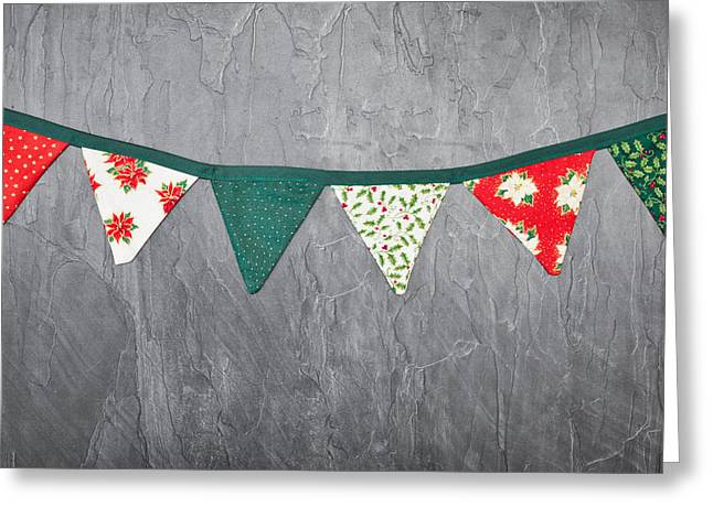 Christmas Art Greeting Cards - Christmas bunting Greeting Card by Tom Gowanlock