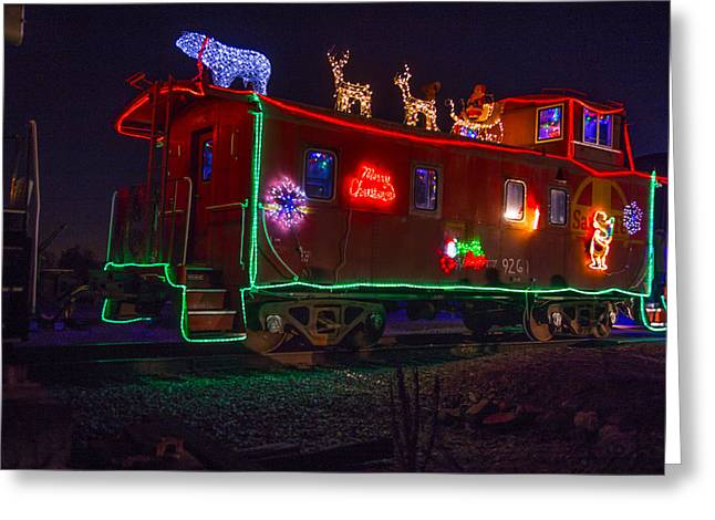 Caboose Photographs Greeting Cards - Christmas Caboose  Greeting Card by Garry Gay