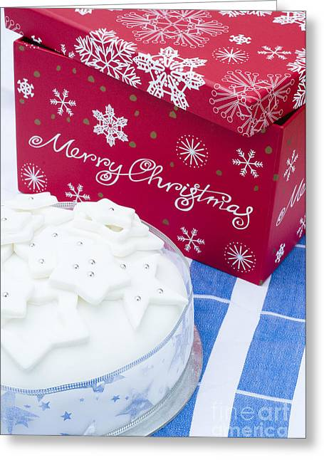 Special Occasion Greeting Cards - Christmas Cake Greeting Card by Anne Gilbert