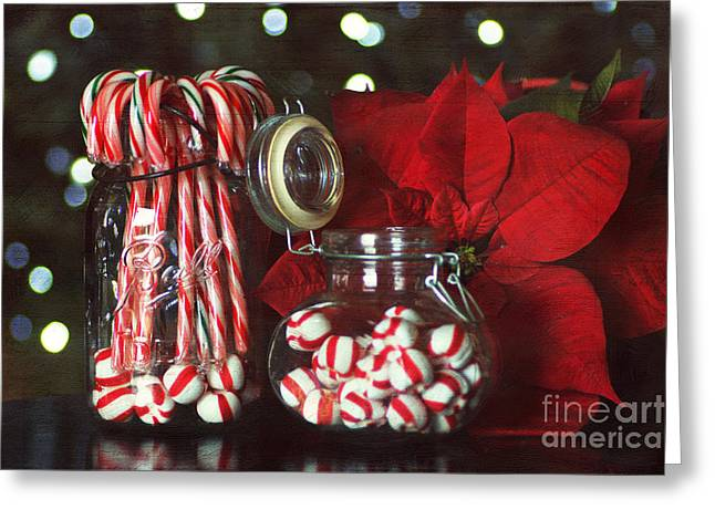Candy Jar Greeting Cards - Christmas Candy Greeting Card by Darren Fisher