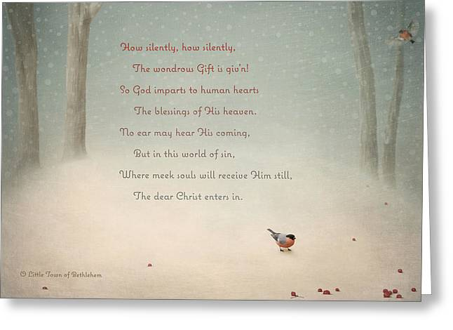 O Lord Greeting Cards - Silent Christmas Greeting Card by Kathryn McBride