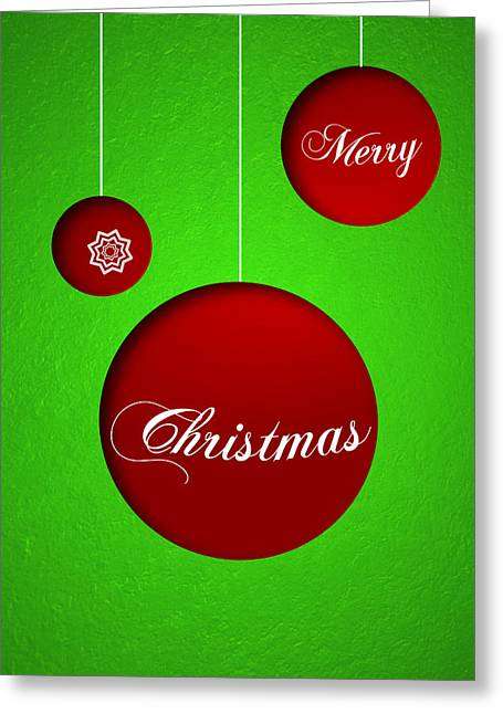 Christmas Greeting Greeting Cards - Christmas card 19 Greeting Card by Martin Capek