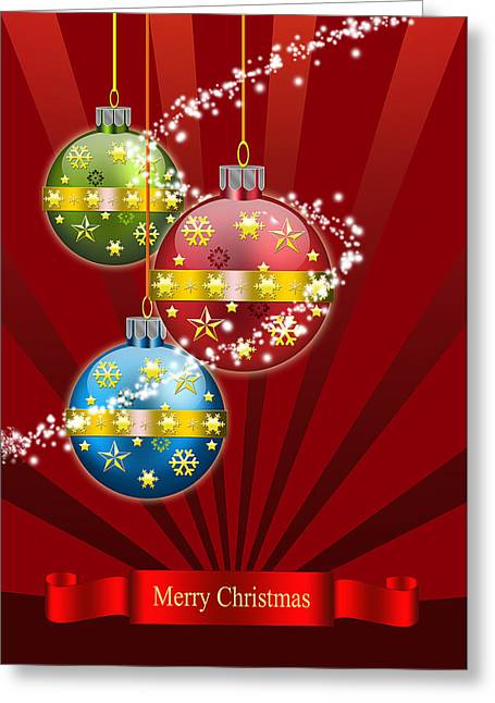 Christmas Card 3 Greeting Card by Mark Ashkenazi
