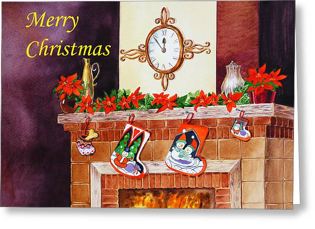 Pitcher Paintings Greeting Cards - Christmas Card Greeting Card by Irina Sztukowski
