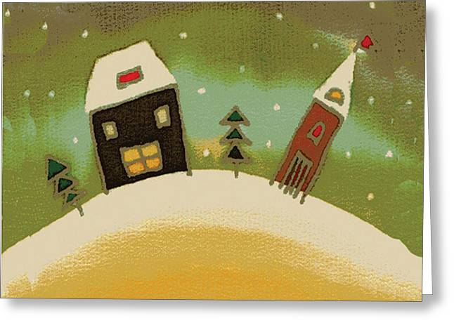 Landmark Tapestries - Textiles Greeting Cards - Christmas Card Greeting Card by Yana Vergasova