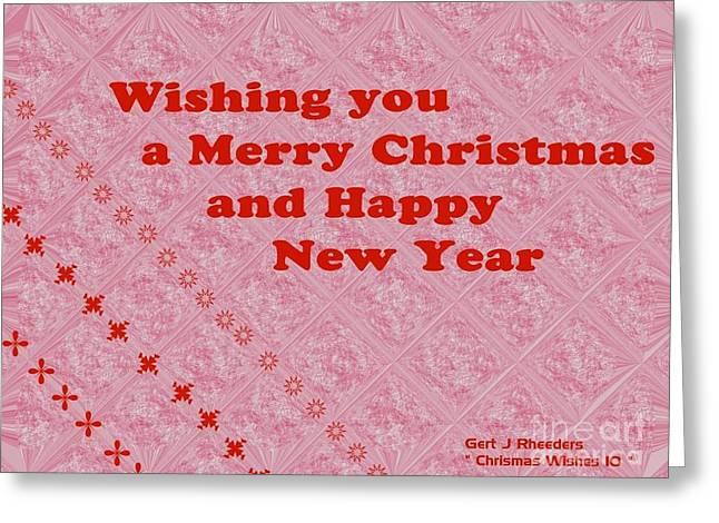 Cellphone Digital Art Greeting Cards - Christmas Cards And Artwork Christmas Wishes 10 Greeting Card by Gert J Rheeders