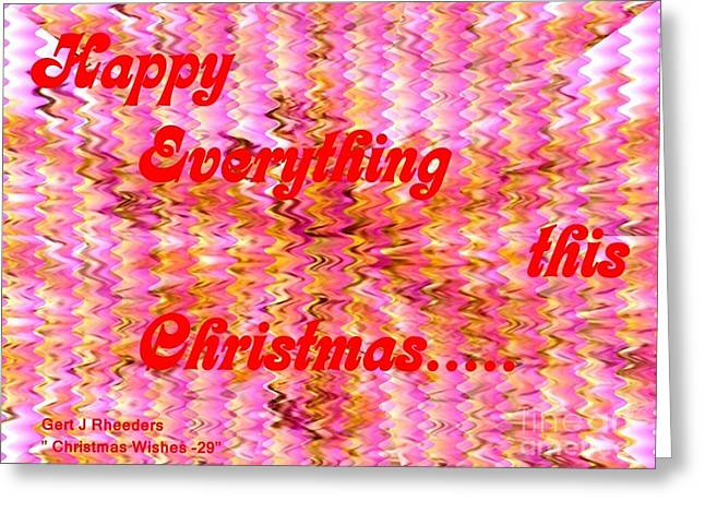 Cellphone Greeting Cards - Christmas Cards And Artwork Christmas Wishes 29 Greeting Card by Gert J Rheeders